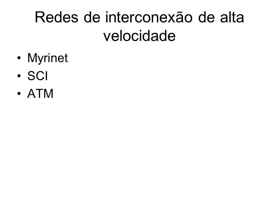 Redes de interconexão de alta velocidade Myrinet SCI ATM