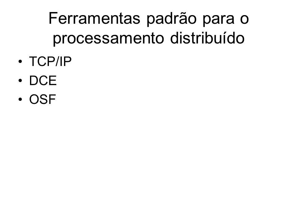 Ferramentas padrão para o processamento distribuído TCP/IP DCE OSF