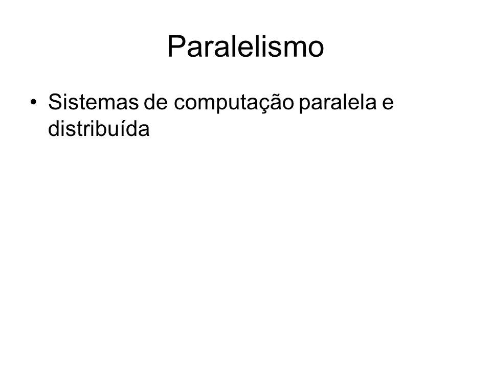Paralelismo Sistemas de computação paralela e distribuída