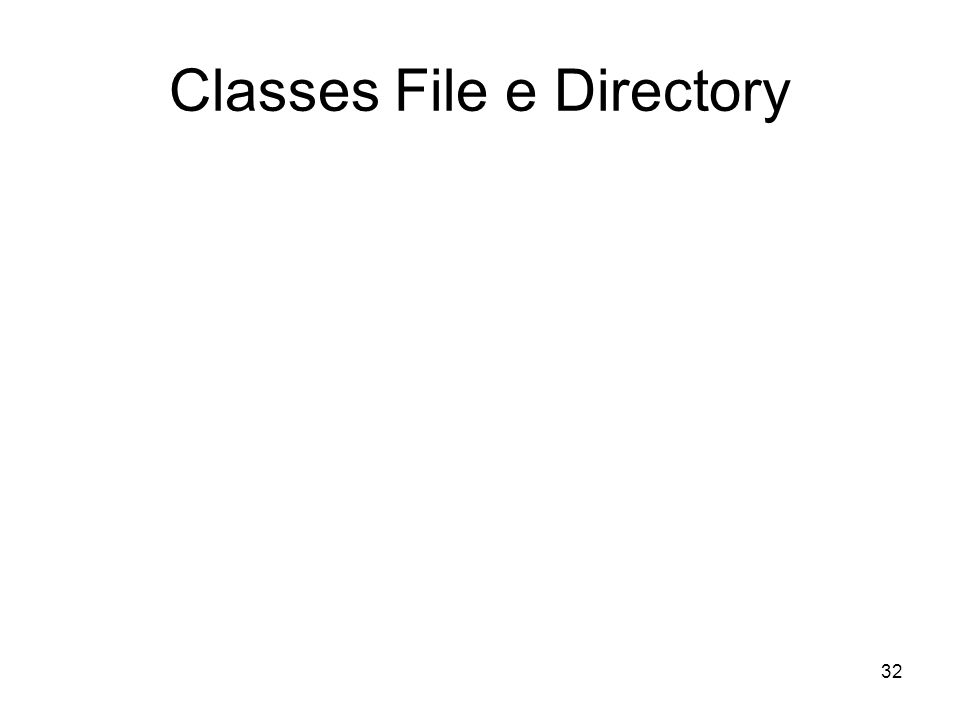 32 Classes File e Directory