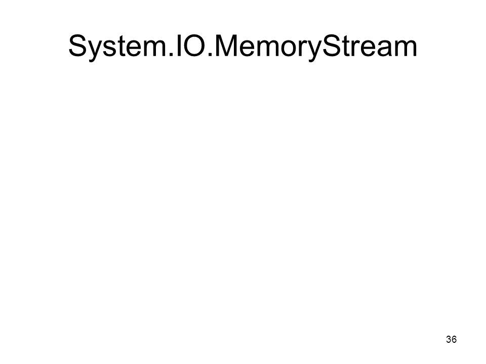 36 System.IO.MemoryStream