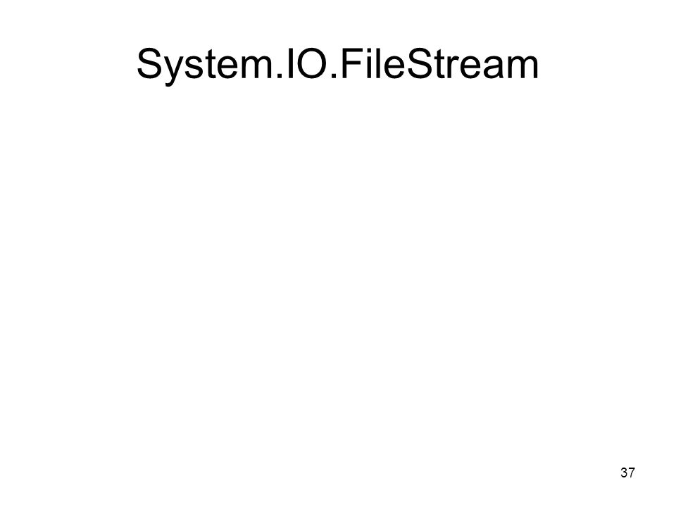 37 System.IO.FileStream