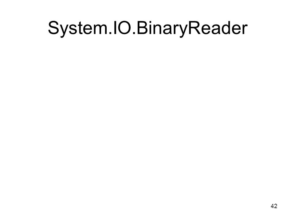 42 System.IO.BinaryReader
