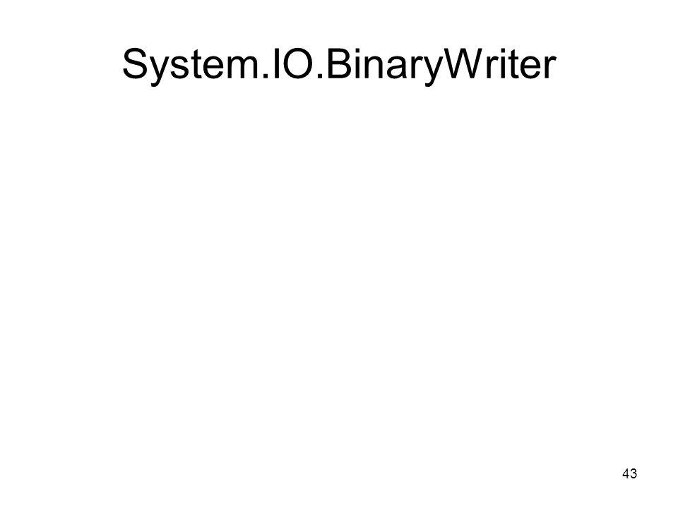 43 System.IO.BinaryWriter