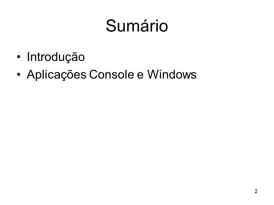 33 Namespace (Espaço de Nomes) Os namespaces permitem que identificadores sejam nomeados de forma que não haja colisão entre seus nomes, isto é, dois identificadores iguais no mesmo código Uma instrução using adiciona um namespace a um escopo
