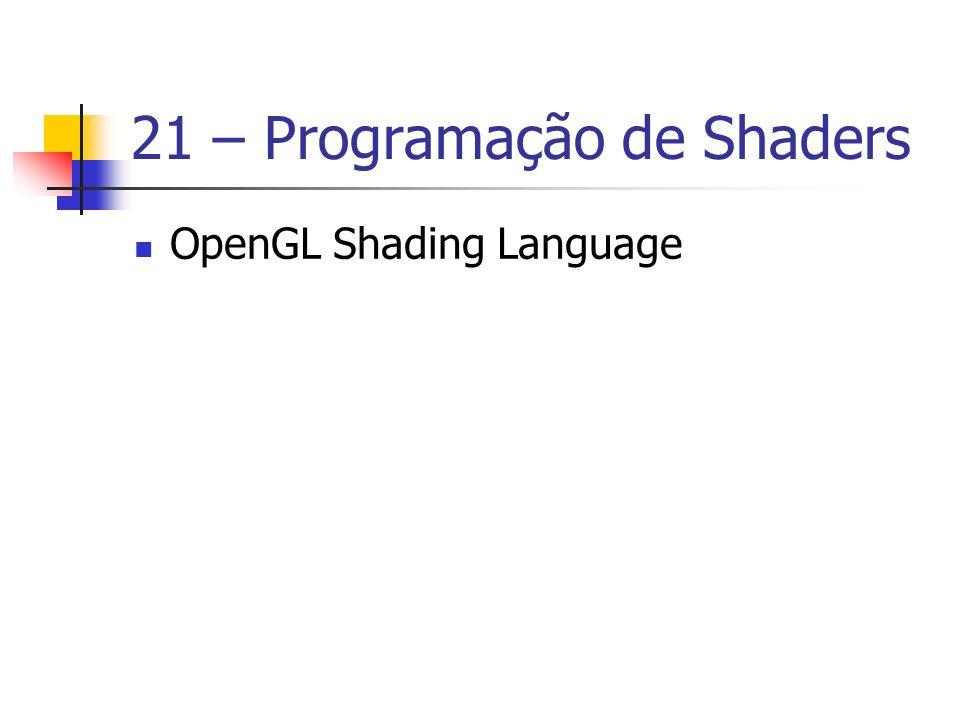 21 – Programação de Shaders OpenGL Shading Language
