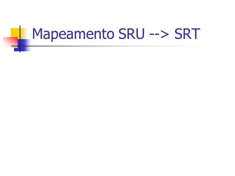 Mapeamento SRU --> SRT