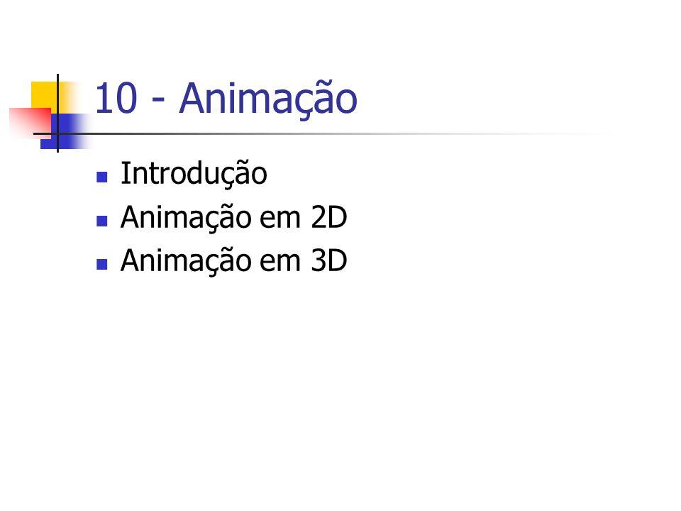 10 - Animação Introdução Animação em 2D Animação em 3D
