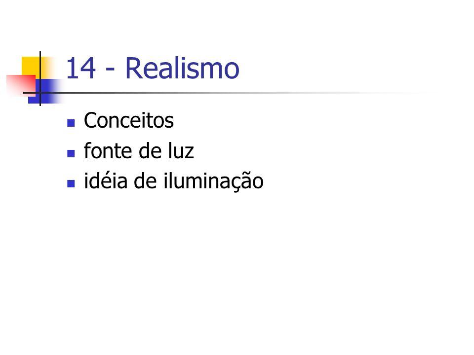 14 - Realismo Conceitos fonte de luz idéia de iluminação
