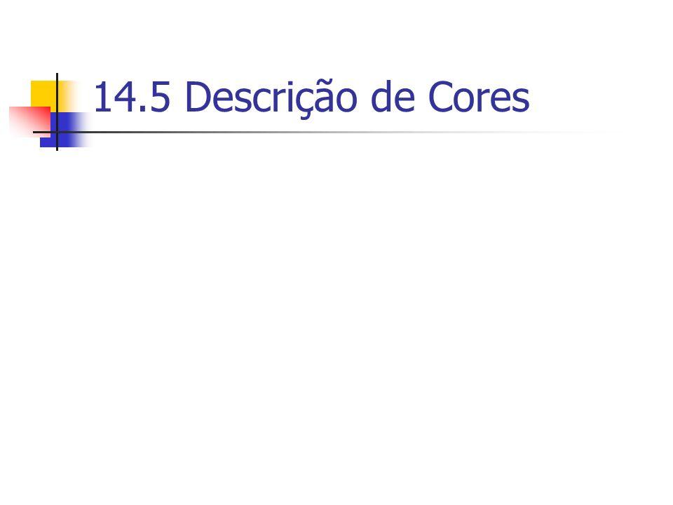 14.5 Descrição de Cores