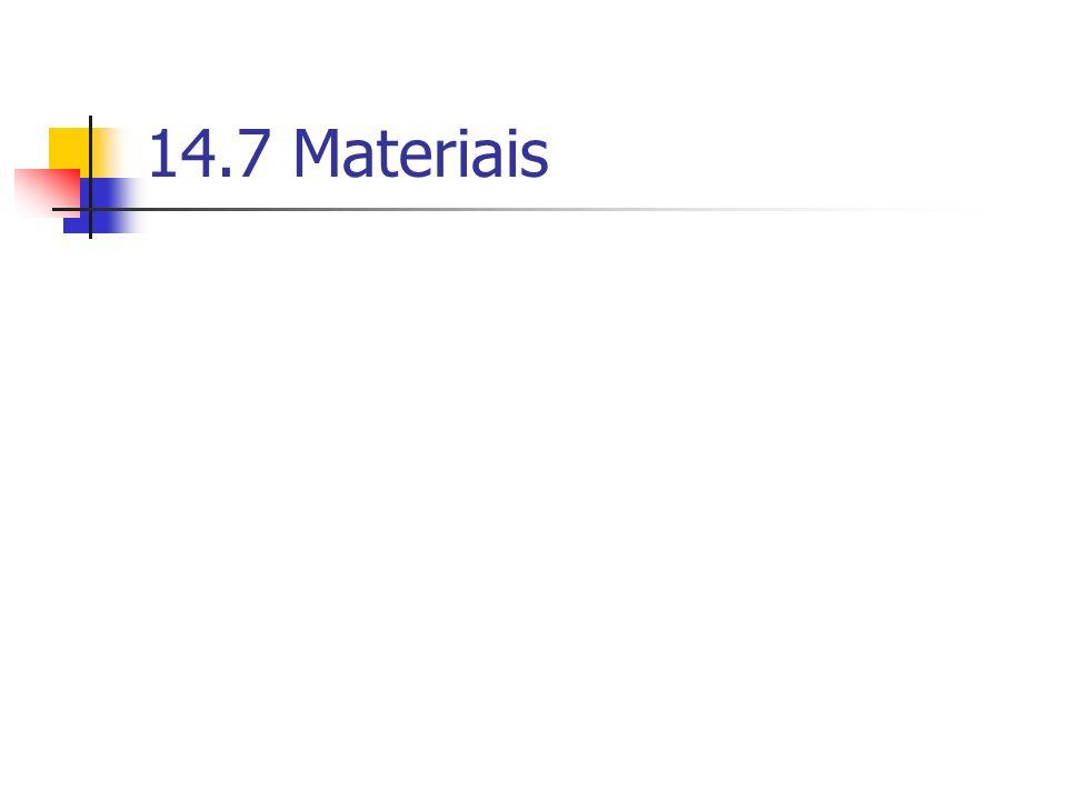 14.7 Materiais