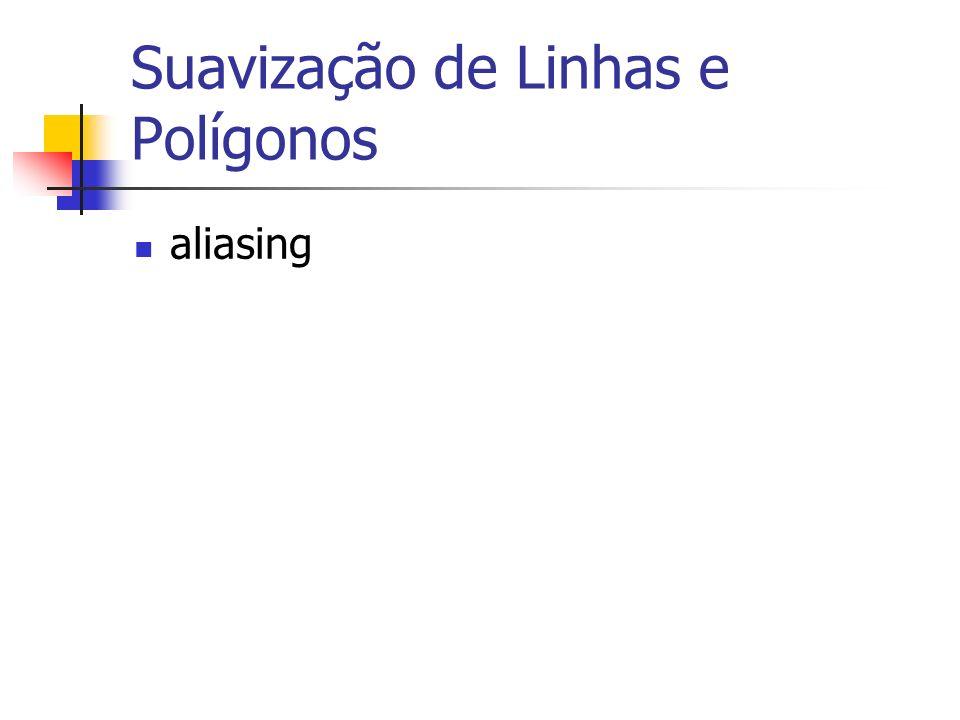 Suavização de Linhas e Polígonos aliasing