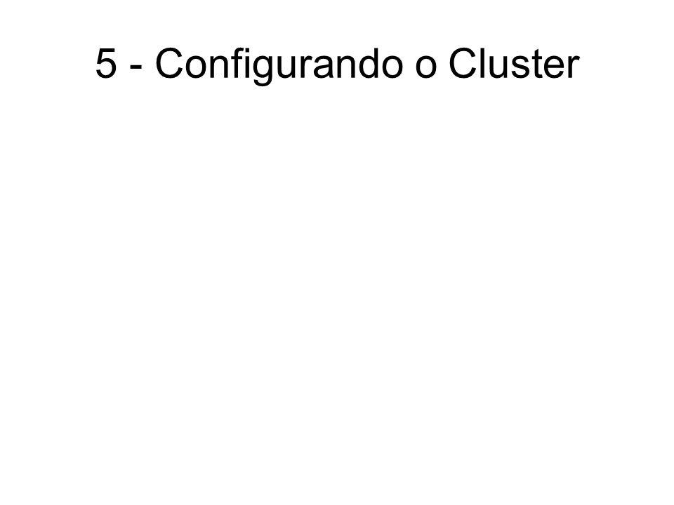 5 - Configurando o Cluster