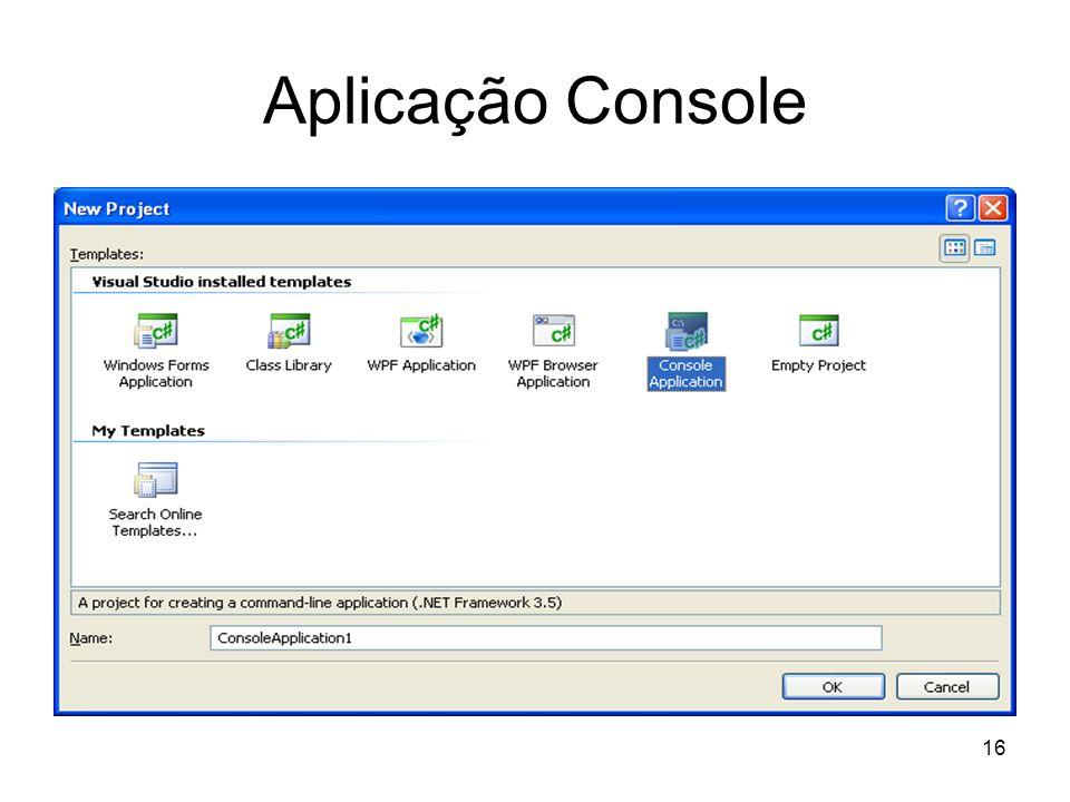 16 Aplicação Console