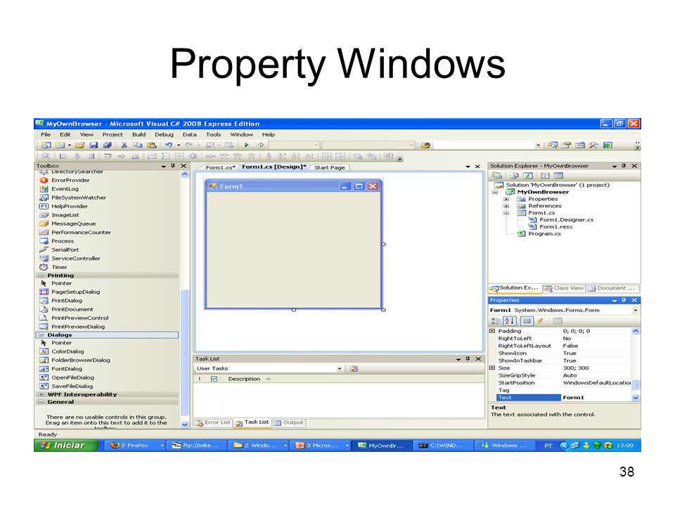 38 Property Windows