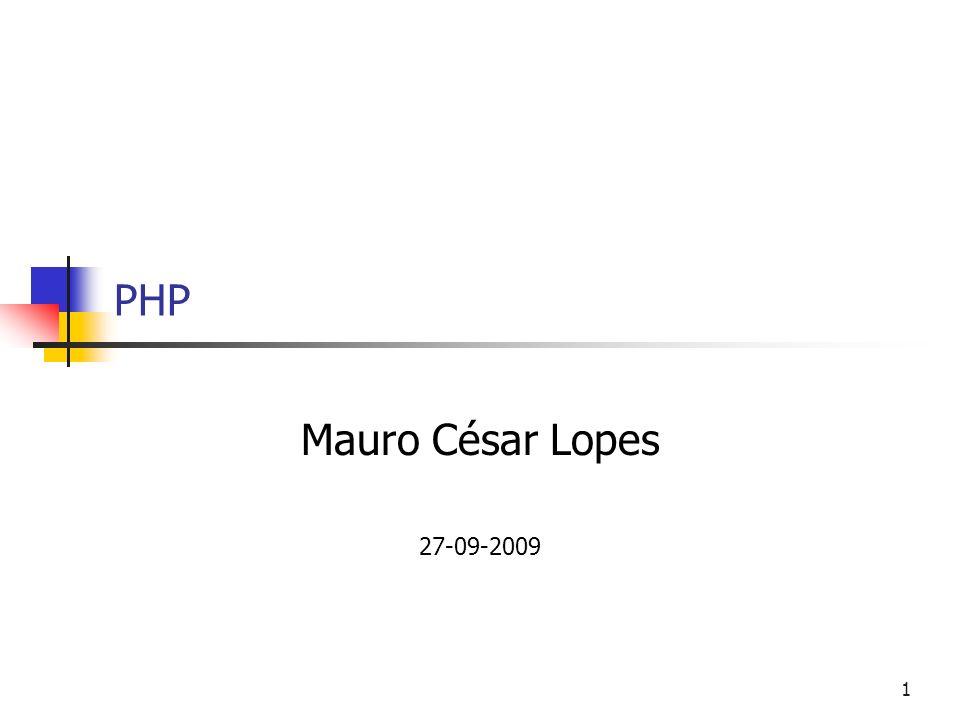 1 PHP Mauro César Lopes 27-09-2009