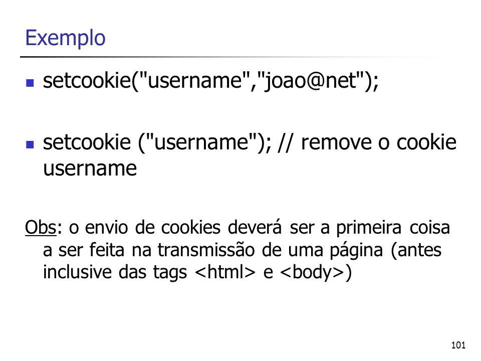 101 Exemplo setcookie(