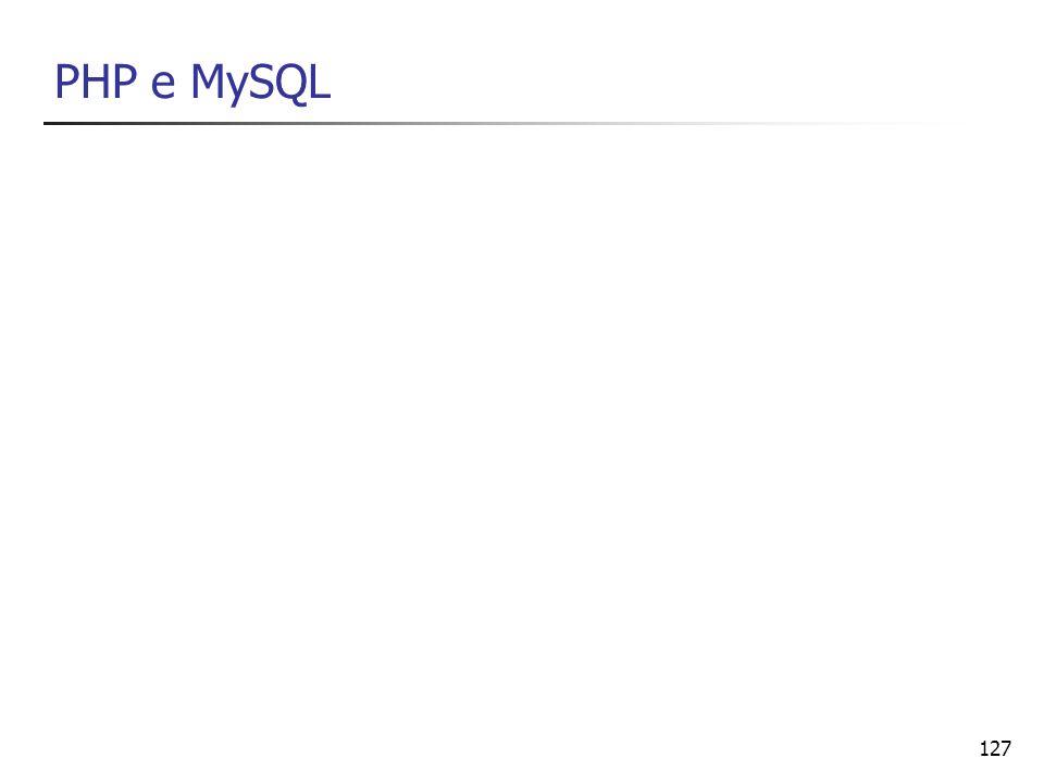 127 PHP e MySQL