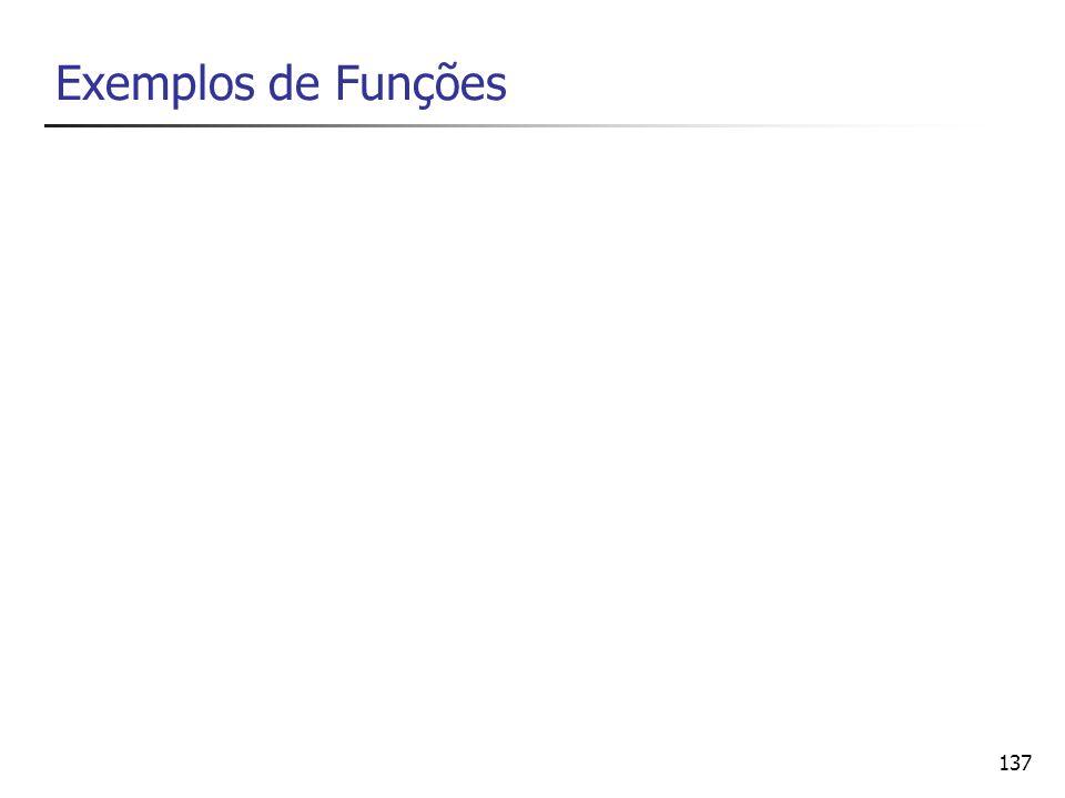 137 Exemplos de Funções