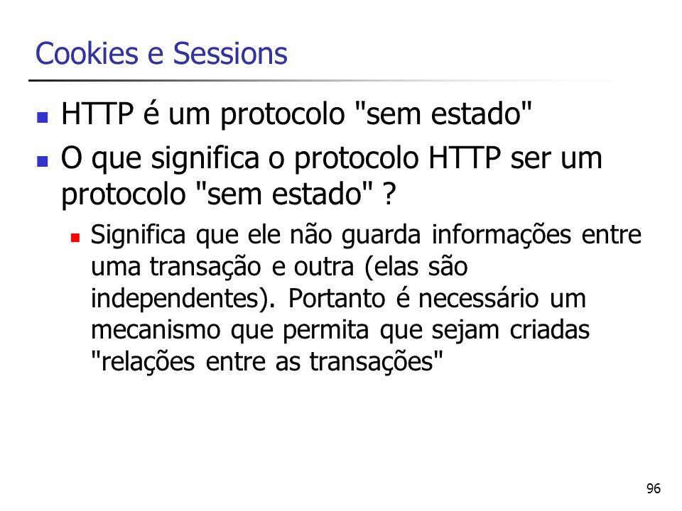 96 Cookies e Sessions HTTP é um protocolo