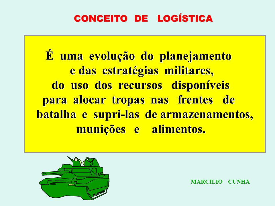 LOGÍSTICA Do francês LOGER Significa: suprir, abastecer. LOGÍSTIQUE derivou a palavraLOGÍSTICA