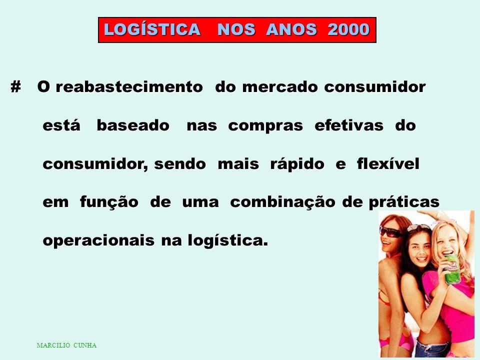 LOGÍSTICA NOS ANOS 2000 # O reabastecimento do mercado consumidor está baseado nas compras efetivas do está baseado nas compras efetivas do consumidor