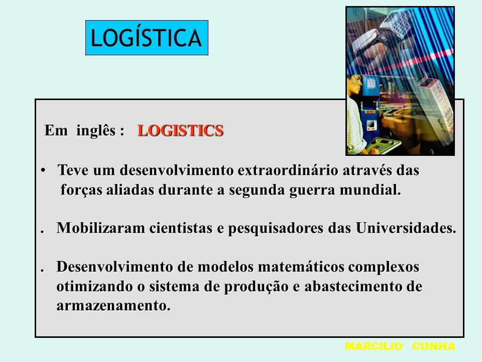 LOGÍSTICA Em inglês : LOGISTICS Em inglês : LOGISTICS Teve um desenvolvimento extraordinário através das Teve um desenvolvimento extraordinário atravé
