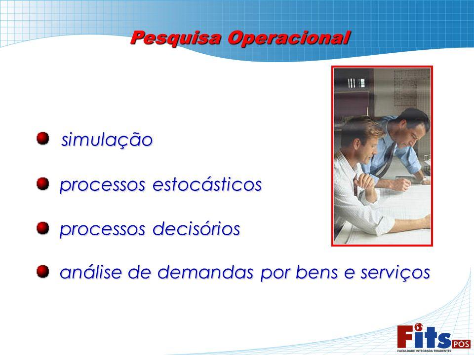 Pesquisa Operacional simulação simulação processos estocásticos processos estocásticos processos decisórios processos decisórios análise de demandas p