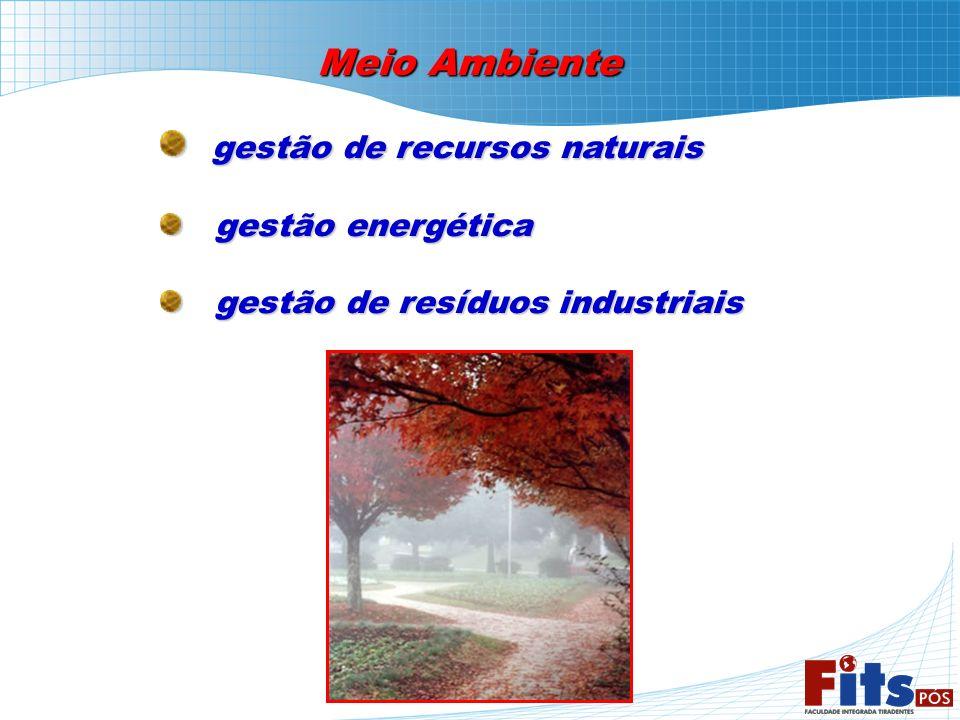 Meio Ambiente gestão de recursos naturais gestão de recursos naturais gestão energética gestão energética gestão de resíduos industriais gestão de res