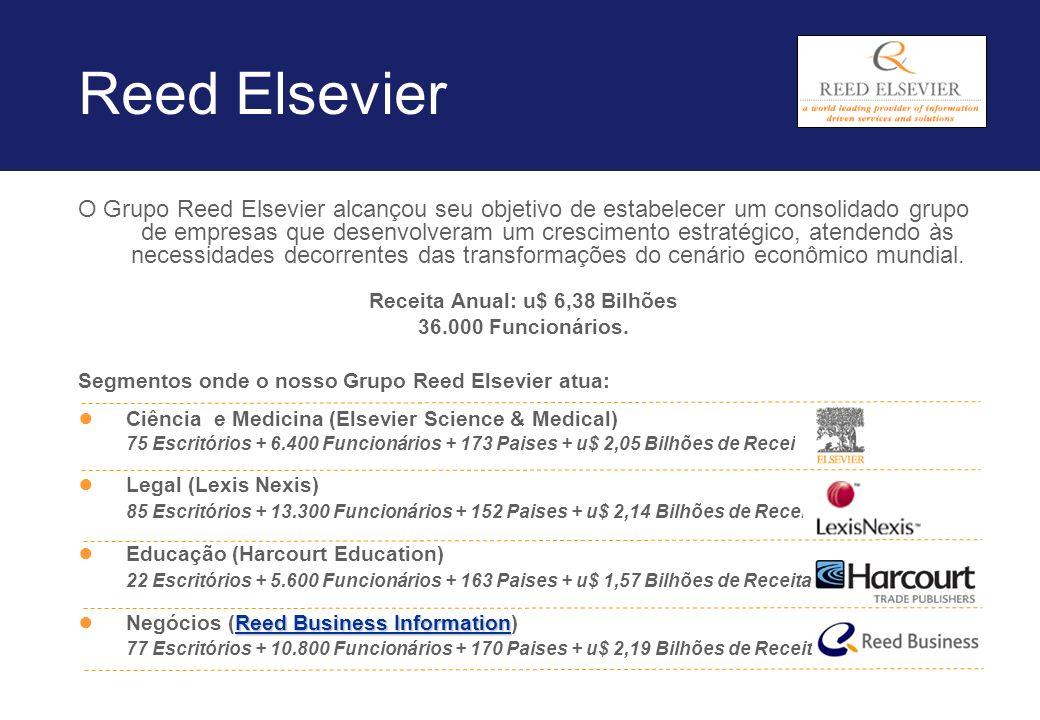 Reed Elsevier O Grupo Reed Elsevier alcançou seu objetivo de estabelecer um consolidado grupo de empresas que desenvolveram um crescimento estratégico