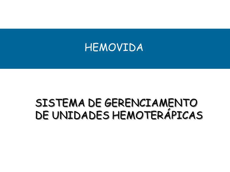 SUBSISTEMA LABORATÓRIO AMOSTRA EXTERNA AMOSTRA EXTERNA IMUNOHEMA- TOLOGIA IMUNOHEMA- TOLOGIA SOROLOGIA - Recebimento de amostras de outros Serviços de Hemoterapia - Cadastro de doações de outros Serviços de Hemoterapia -Cadastro de Tipagem sanguínea das amostras dos doadores e amostras externas - Fenotipagem - Pesquisa de anticorpos - Parâmetros diários por metodologia - Exames Bloqueados - Exames pendentes - Liberação de exames - Resultados de 2ª amostra - Mapas diários por exame e metodologia