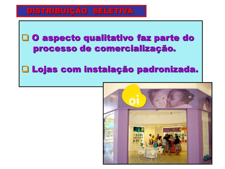 O aspecto qualitativo faz parte do O aspecto qualitativo faz parte do processo de comercialização. processo de comercialização. Lojas com instalação p