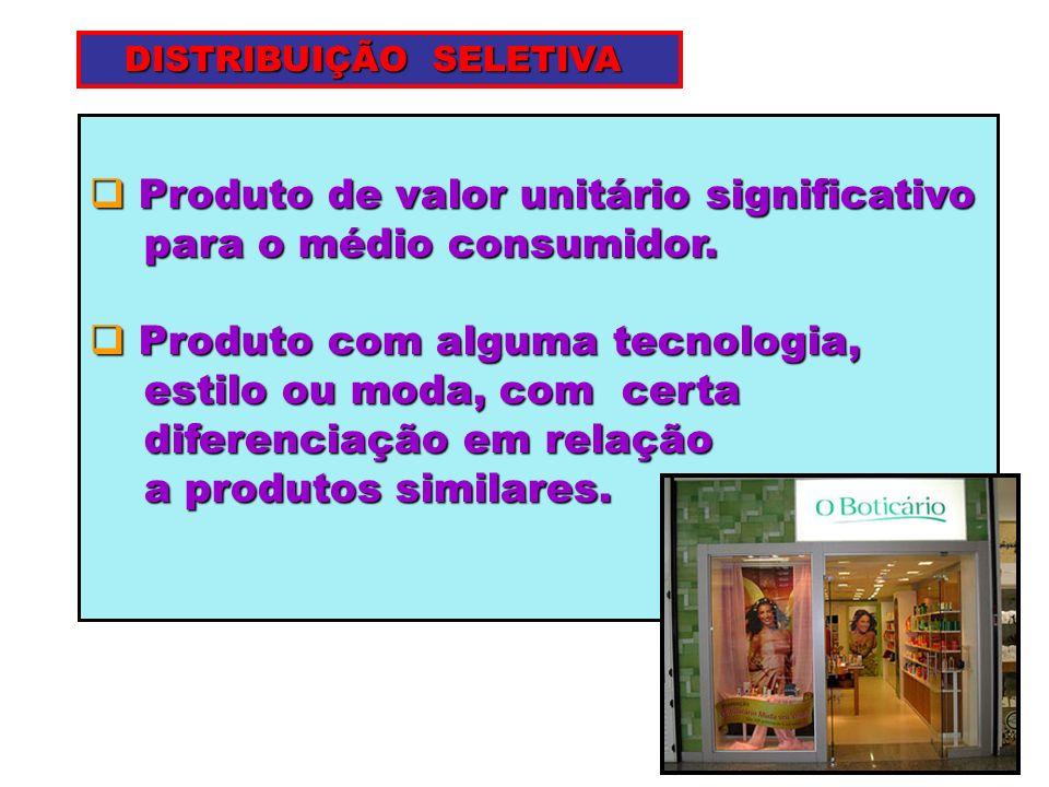 Produto de valor unitário significativo Produto de valor unitário significativo para o médio consumidor. para o médio consumidor. Produto com alguma t