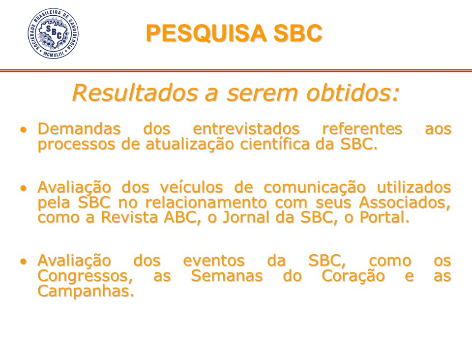 Demandas dos entrevistados referentes aos processos de atualização científica da SBC.Demandas dos entrevistados referentes aos processos de atualizaçã