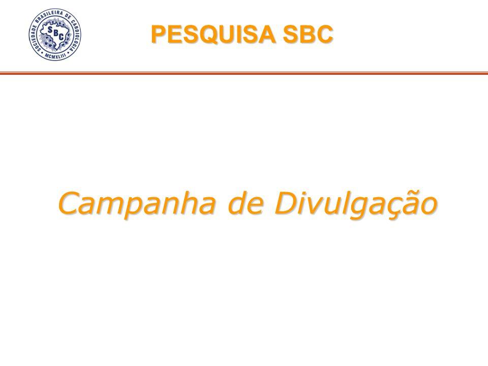 Campanha de Divulgação PESQUISA SBC PESQUISA SBC