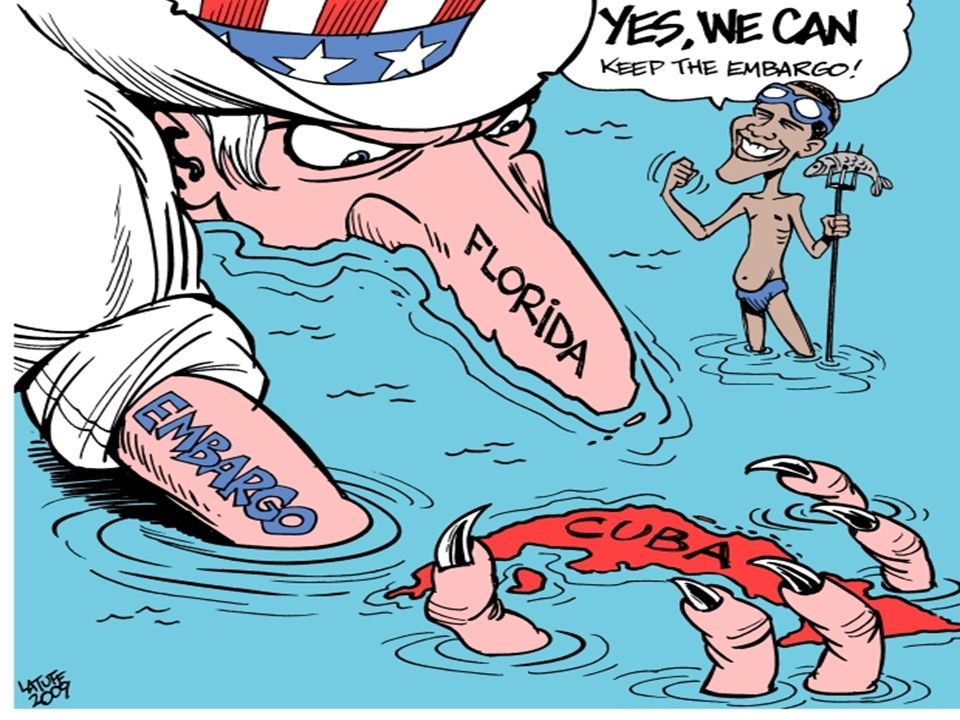 Pode-se criticar Cuba em muitos aspectos, mas não há como exigir distensão política enquanto a espada de Dâmocles do bloqueio americano pesar sobre o seu pescoço.