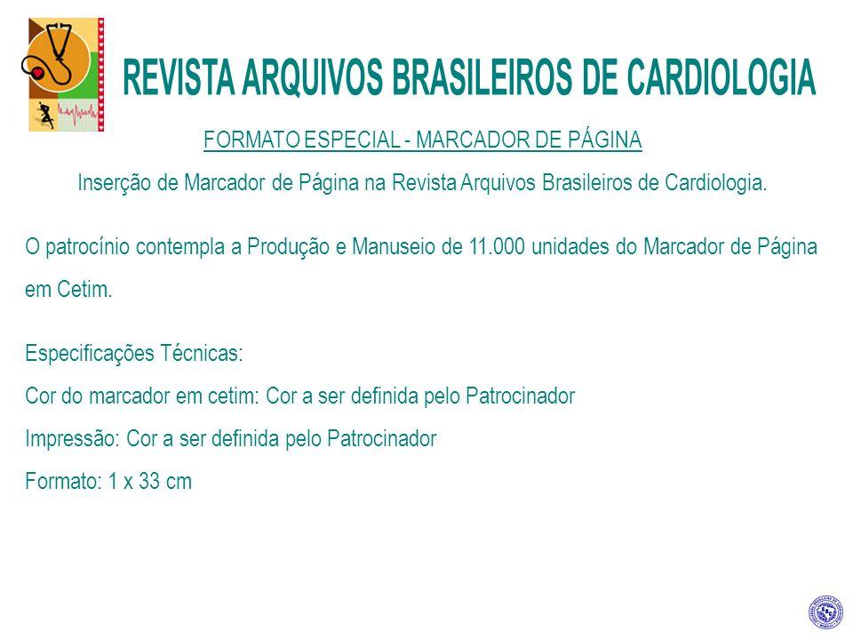 FORMATO ESPECIAL - MARCADOR DE PÁGINA Inserção de Marcador de Página na Revista Arquivos Brasileiros de Cardiologia.