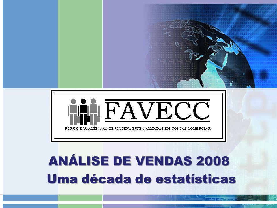 IAGE ANÁLISE DE VENDAS 2008 ANÁLISE DE VENDAS 2008 Uma década de estatísticas Uma década de estatísticas