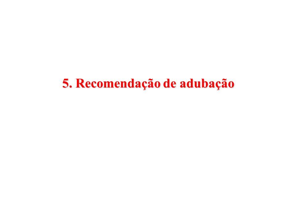 5. Recomendação de adubação