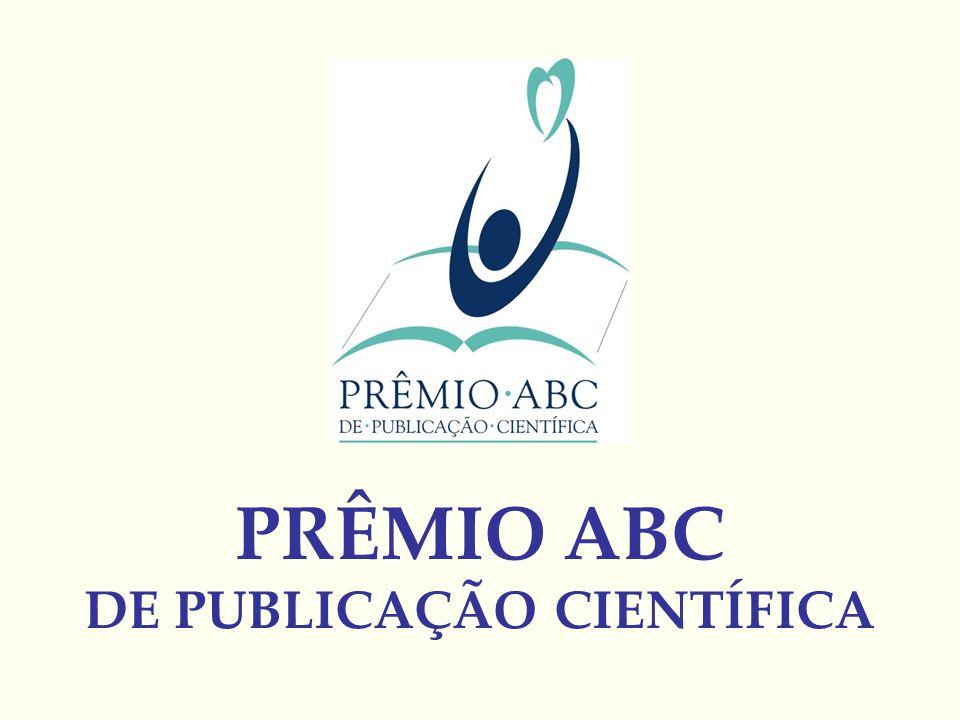 PRÊMIO ABC DE PUBLICAÇÃO CIENTÍFICA