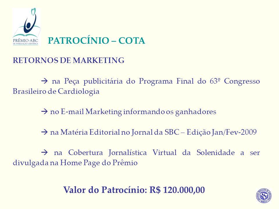RETORNOS DE MARKETING na Peça publicitária do Programa Final do 63º Congresso Brasileiro de Cardiologia no E-mail Marketing informando os ganhadores n