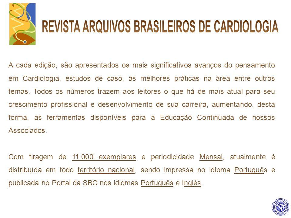 Inserção de Cinta envolvendo a edição da Revista Arquivos Brasileiros de Cardiologia.