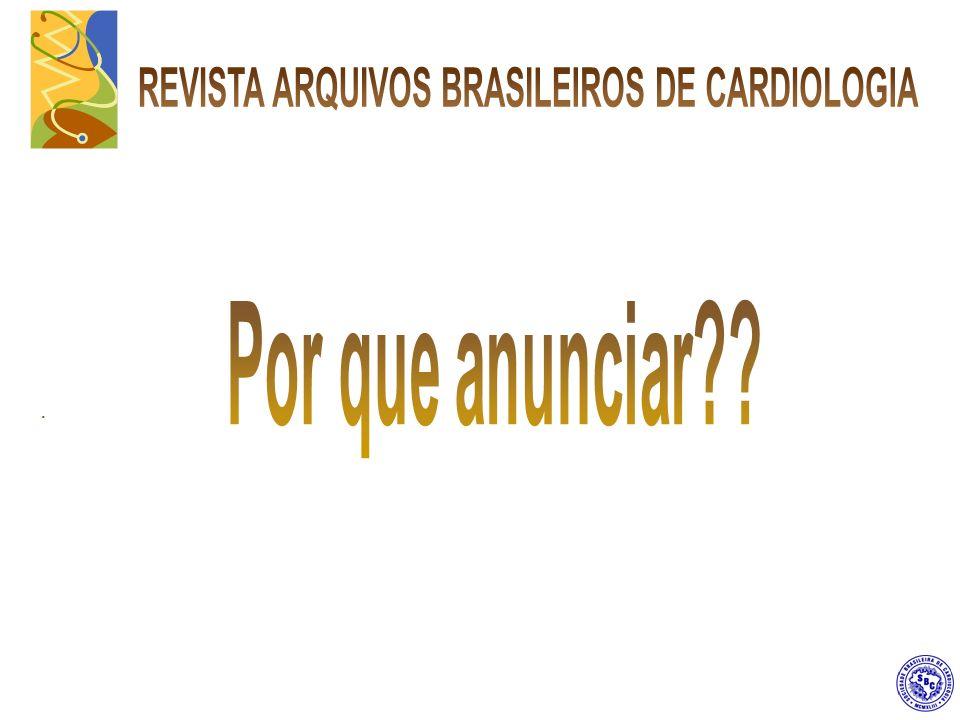Inserção de Marcador de Página na Revista Arquivos Brasileiros de Cardiologia.