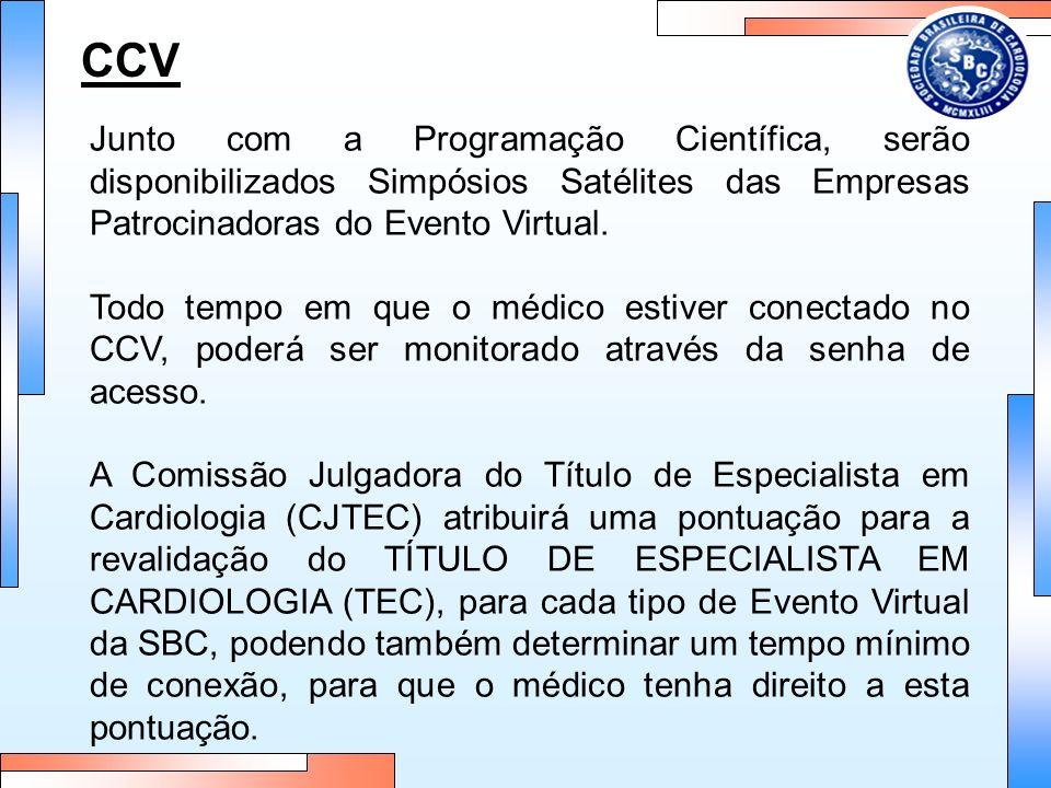 CCV Junto com a Programação Científica, serão disponibilizados Simpósios Satélites das Empresas Patrocinadoras do Evento Virtual. Todo tempo em que o
