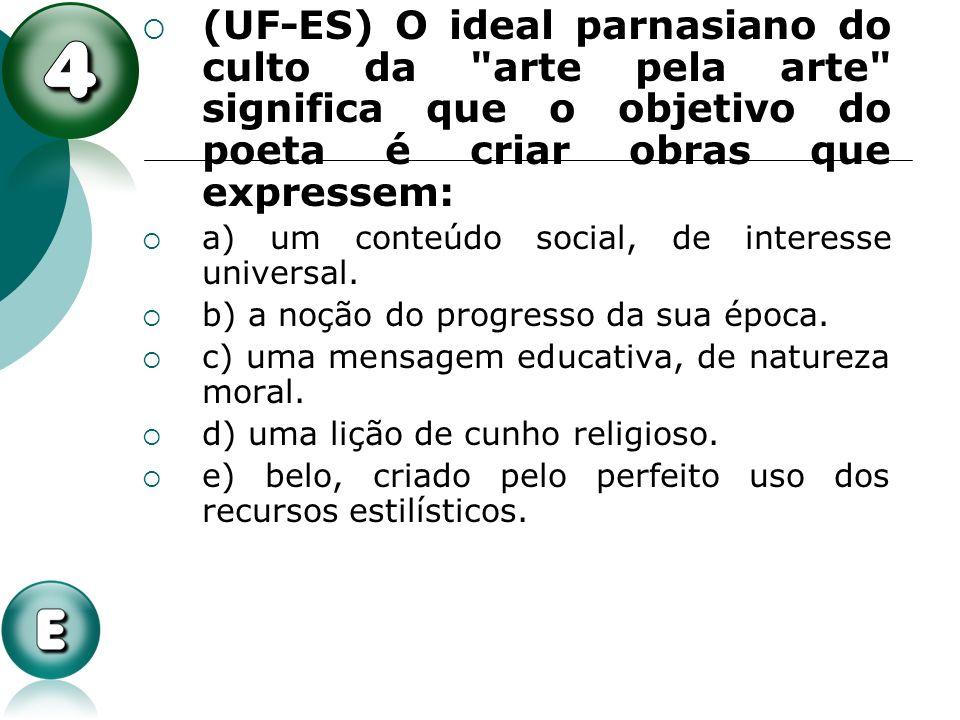 (UF-ES) O ideal parnasiano do culto da