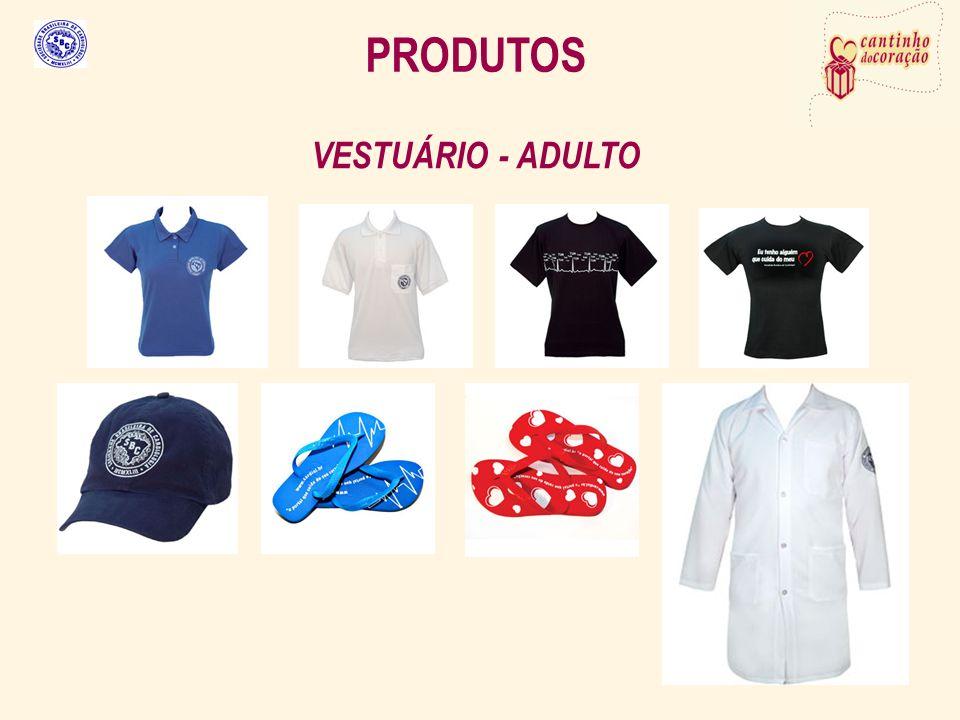 PRODUTOS VESTUÁRIO - ADULTO
