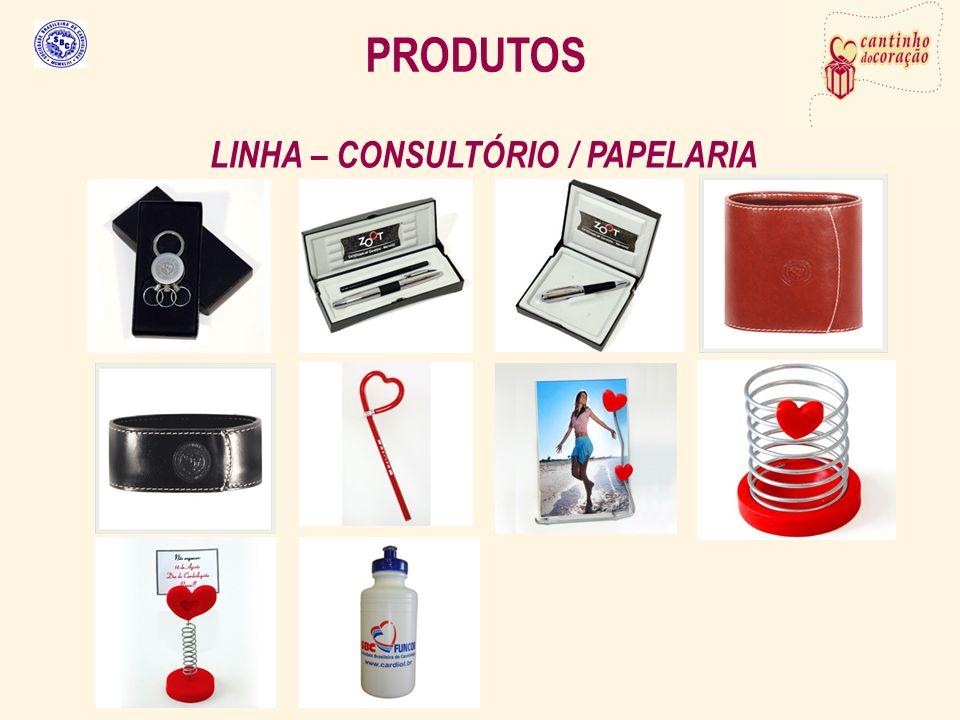 PRODUTOS LINHA – CONSULTÓRIO / PAPELARIA