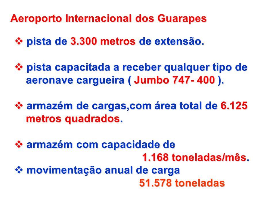 Aeroporto Internacional dos Guarapes pista de 3.300 metros de extensão. pista de 3.300 metros de extensão. pista capacitada a receber qualquer tipo de