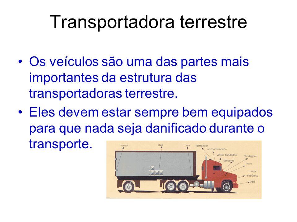 Transportadora terrestre Os veículos são uma das partes mais importantes da estrutura das transportadoras terrestre. Eles devem estar sempre bem equip