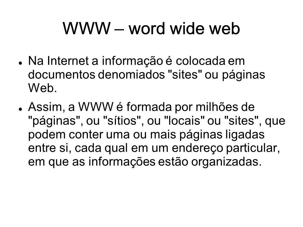 Os sites se apresentam de maneira muito variada e podem: ter tamanho grande ou pequeno, estar bem organizados ou não, conter informações importantes ou não.